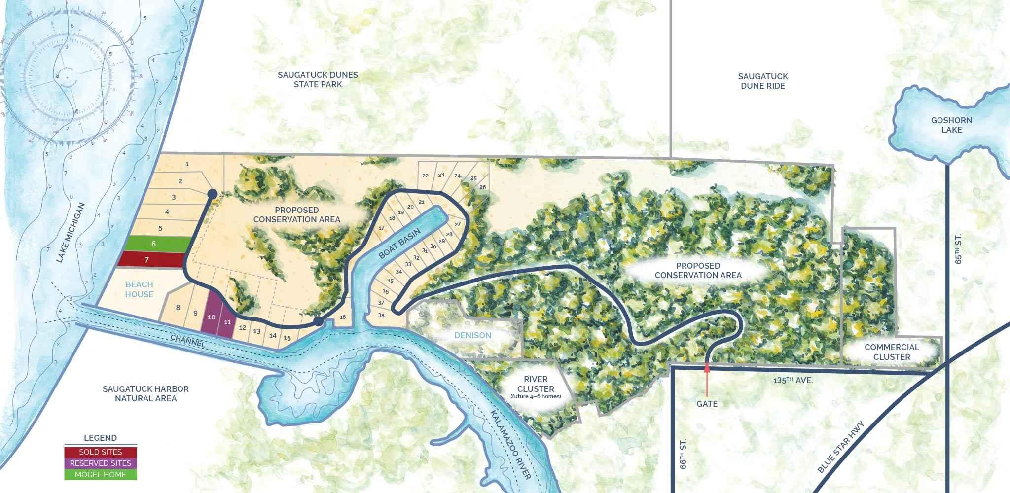 NorthShore of Saugatuck Sitemap